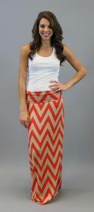 She's Chevron Maxi Skirt