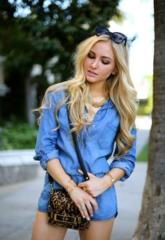Chambray Romper | AngelFoodStyleAngelFoodStyle