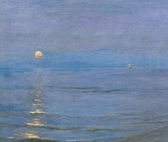 """Summer Evening"" 1908. oil on canvas.  by P. S. Krøyer"