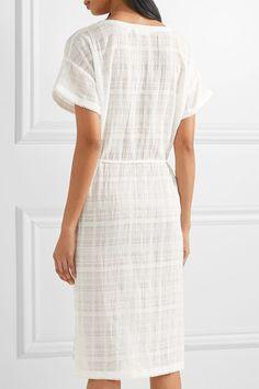 Skin - Crinkled Cotton-gauze Nightdress - White - 1