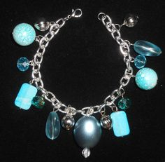 jeweled out for summer bracelet (new)  SOLD