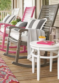 Settle into the generous proportions and comfortable contours of the Nantucket outdoor rocking chair: we've updated the classic front porch rocker with style, comfort and value in mind.