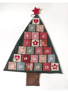 Fabric Christmas Tree Advent Calandar @ rosefields.co.uk