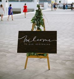 Stunningly simple modern #wedding signage  Celebration Inspiration from Chavelli Tsui | www.chavelli.com