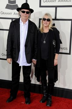 Best Rock Album nominee Neil Young and Pegi Young arrive�at the 56th Annual GRAMMY Awards on Jan. 26 in Los Angeles