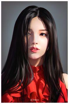 """Again, Happy Birthday Jeon Heejin ! 😭😭🎂🎉 Here& a fanart I made for you~ 👉👈🥺💖💖 Digital Art Girl, Digital Portrait, Portrait Art, Digital Art Anime, Art Anime Fille, Anime Art Girl, Pretty Anime Girl, Beautiful Anime Girl, Cartoon Kunst"