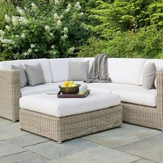 The Kingsley Bate Sag Harbor Sectional Ottoman is built on a fully-welded aluminum sub-frame which provides strength and outdoor durability to t Patio Furniture Cushions, Backyard Furniture, Wicker Sofa, Furniture Chairs, Apartment Furniture, Bedroom Furniture, Rustic Outdoor Furniture, Antique Furniture, Wooden Furniture