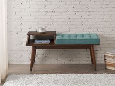 Entry Bench Telephone Table Entryway Hall Furniture Accent Decor Living Modern #EntryBench #Modern