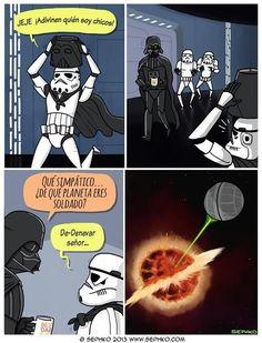 Razón número un millón por la que no te debes meter con Darth Vader.