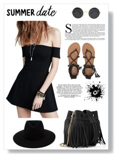 """""""Black"""" by selena-styles-ibtissem23 ❤ liked on Polyvore featuring Whistles, Free People, rag & bone and Billabong"""