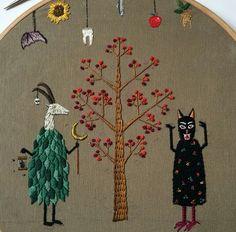 Animal occult embroidery baobap handmade