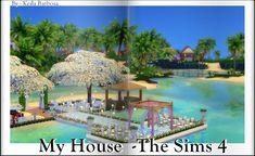My House -The Sims 4 : Casamento na Praia -The Sims 4 ( no cc ) Sims 4 Mods, Sims 3, Lotes The Sims 4, The Sims 4 Houses, Sims House, Casas The Sims 4, Marina Bay Sands, Destination Wedding, Marriage