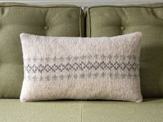 Neutral Decorative Knitted Pillow / Cushion Cover by KnitFrekkles, £40.00