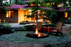 Woodland Retreat eclectic landscape