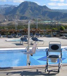 Poolside hoist by rooftop pool, Tenerife; Repinned from Steve Wilkinson.