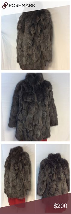 "FOX FUR FINGER TIP COAT FOX FUR FINGER TIP COAT. Dry clean. Approximate measurements are 35"" shoulder to hem, 21"" arm pit to arm pit, 23"" sleeve from shoulder to end of sleeve. 0119 Jackets & Coats"