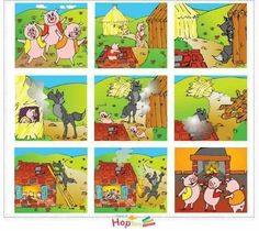 Fairy Tale Activities, Sequencing Activities, Moral Stories For Kids, Short Stories For Kids, Story Sequencing Pictures, Picture Story For Kids, Three Little Pigs Story, Picture Writing Prompts, English Activities