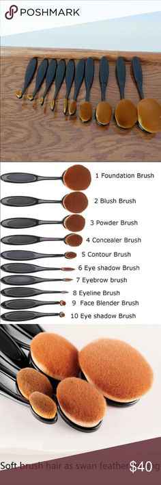 FINAL✂️ ✨Contouring Makeup Brush set✨ ⭐️New! Never used set. Comes in individual packaging. No box. Great for applying foundation,powder,eyeshadow,etc. Have a set and honestly LOVE them!! Great quality!! Set sold together. Any questions please ask before purchasing. ✅Bundle for discount ❌No Trades Boutique Makeup Brushes & Tools