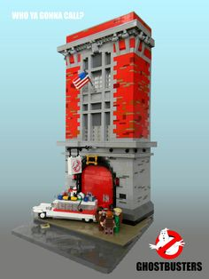 Who ya gonna call? Indiana Jones Games, Ghostbusters Firehouse, Lego Factory, Real Fire, Ghost Busters, Lego Creations, Legos, Have Time, Geek Stuff