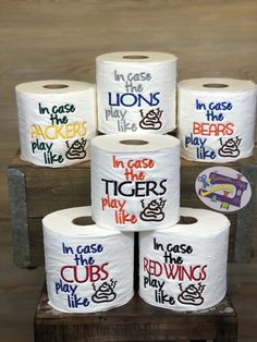 Sports Embroidered Toilet Paper Gag Gift, Football gift, Hard to shop for, Unique Christmas Gift, Fo Gag Gifts Christmas, Christmas Jokes, Homemade Christmas, Christmas Ideas, Christmas Crafts, Embroidered Toilet Paper, Embroidered Gifts, Christmas Toilet Paper, Toilet Paper Roll Crafts