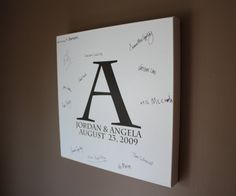 Wedding Guest Book Alternative Stretched Canvas by TheApplesBee, $74.95