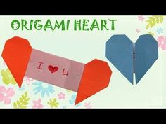 Origami Heart with Message - Origami Easy - YouTube