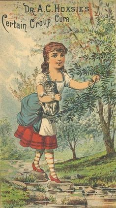 Dr. A. C. Hoxie's Certain Croup Cure Victorian Advertising Card
