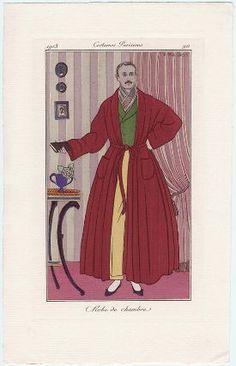"""""""Robe de chambre"""", Journal des Dames et des Modes, 1913; MFA 63.2550"""