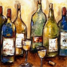 Wine Art Prints make wonderful additions to your decorating for the dining room, kitchen, den, even living room. You don't have to be a wine expert...