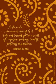 FREE Downloadable Graphics | Scripture | Colossians 3:12 | The Billy Graham Library Blog | Bible Verse