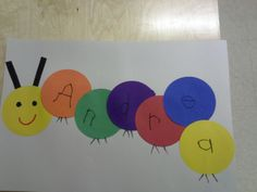 Preschool caterpillar activity