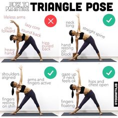 いいね!740件、コメント7件 ― Jib Aksorndeeさん(@yogawithjib)のInstagramアカウント: 「#howtoyogawithjib Here are the do's and don't's in #trianglepose or utthitta trikonāsana This…」