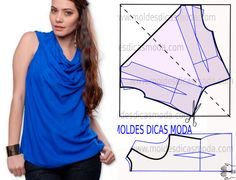 draped blouse pattern step by step by moldes dicas moda
