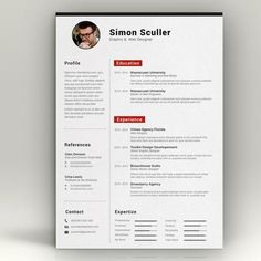 Cv Template   Color Options  By Chic Templates On Creative