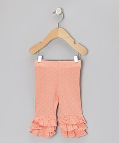 http://www.zulily.com/invite/vhanson979Take a look at this Peachy Keen Floral Triple Ruffle Leggings - Toddler & Girls by Swanky Baby Vintage on #zulily today!