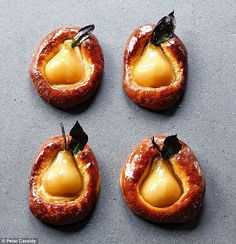 The shortlisted entries from the MSsponsored Food Portraiture category in the 2016 Pink Lady Food Photographer Of The Year Photo credit Peter Cassidy Poached Pear Just Desserts, Delicious Desserts, Dessert Recipes, Yummy Food, Healthy Food, Baked Pears, Slow Cooker Desserts, Poached Pears, Pavlova