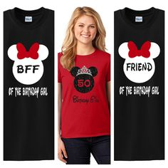 Disney Birthday Girl Shirt Mickey Minnie Mouse Shirts Custom