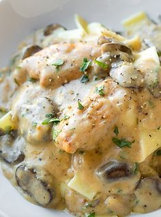 Creamy chicken stroganoff recipe chicken stroganoff creamy wonderfully creamy chicken stroganoff with mushrooms recipe meal ideas quick easy forumfinder Choice Image