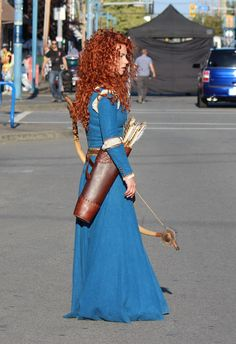 Amy Manson on set - August 21, 2015