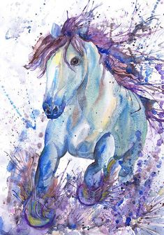 Horse Art Print by Valentina RA. All prints are professionally printed, packaged, and shipped within 3 - 4 business days. Choose from multiple sizes and hundreds of frame and mat options. Watercolor Horse, Watercolor Animals, Watercolor And Ink, Watercolor Paintings, Original Paintings, Painting Prints, Art Prints, Painting Art, Horse Wall Art