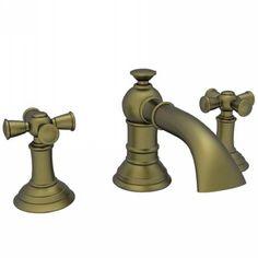Newport Brass NB2420-06 Aylesbury Antique Brass Two Handle Widespread Bathroom Faucets