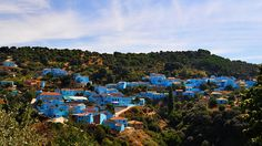 This Whole Town Was Forever Painted Blue Because of The Smurfs Movie