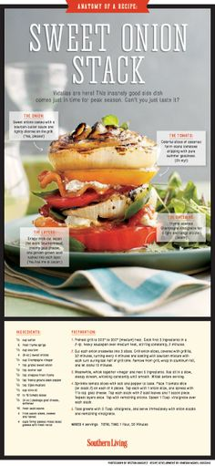 Anatomy of a Recipe: Sweet Vidalia Onion Stack [INFOGRAPHIC] | SouthernLiving.com