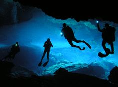 Cave diving in Cenotes
