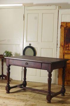 アンティーク ウッドテーブル(ブラウン)  French Antique Wooden Table