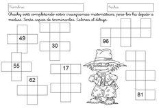 Resultado de imagen de crucigramas 1º primaria