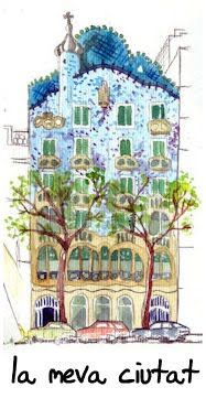 vols saber de. City Drawing, Painting & Drawing, Watercolor Paintings, Barcelona Architecture, Arts Barcelona, Sketch Journal, Spanish Culture, Antoni Gaudi, Painter Artist
