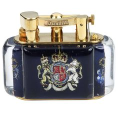 Dunhill Aquarium with Queen Elizabeth II Cypher | From a unique collection of antique and modern tobacco accessories at https://www.1stdibs.com/furniture/more-furniture-collectibles/tobacco-accessories/