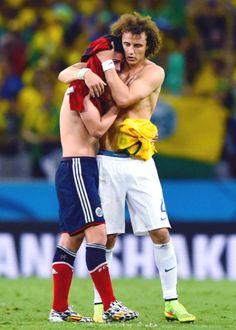 James Rodríguez and David Luiz
