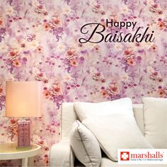 May your home blossom with joy, prosperity, happiness and wealth, this #Baisakhi and always! Marshalls Wallcoverings wishes everyone a very #HappyBaisakhi! #Baisakhi2017 #festive #festivewishes #festival #homedecor #wallcoverings #wallpapers #walldecor.